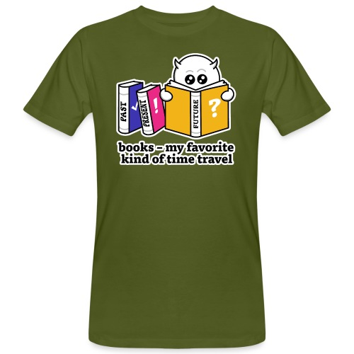 books – my favorite kind of time travel - Männer Bio-T-Shirt