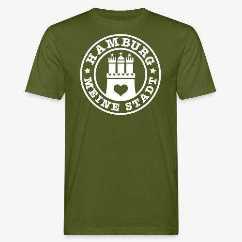 HAMBURG MEINE STADT Wappen 1c - Männer Bio-T-Shirt