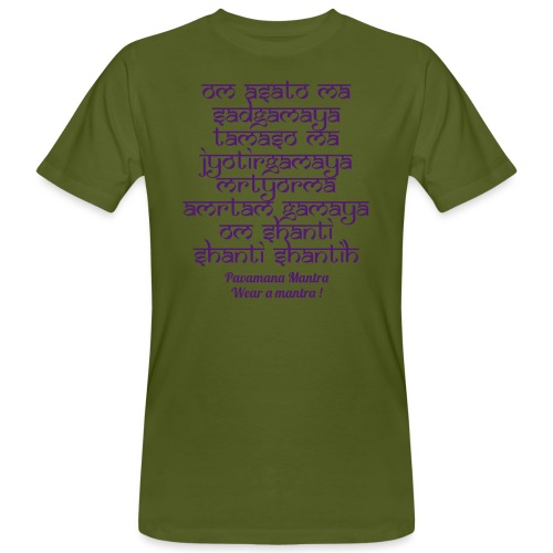 Om Asatoma Sadgamaya - T-shirt ecologica da uomo