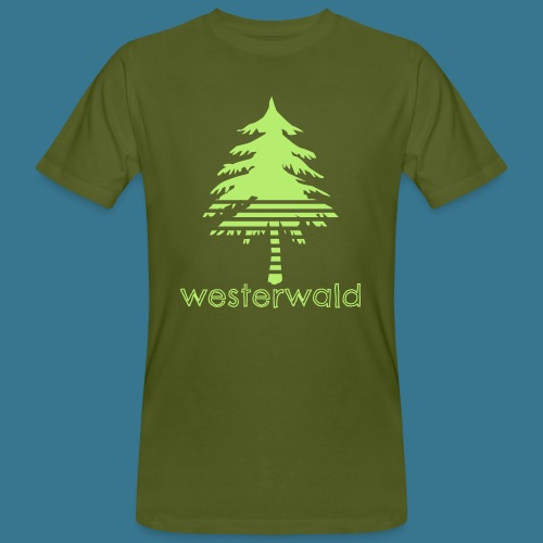 Bunt, Hip, Bodenständig- Westerwald kann! - Männer Bio-T-Shirt