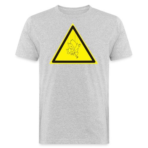 pericolo-caduta-santi - T-shirt ecologica da uomo