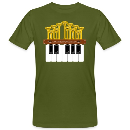 Pitch Penguin Pipe Organ - Men's Organic T-Shirt