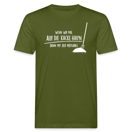 Vorschau: auf die kacke haun - Männer Bio-T-Shirt