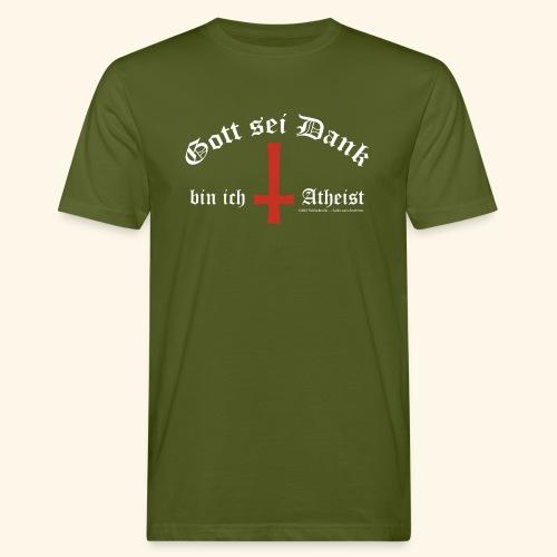 Gott sei Dank bin ich Atheist - Männer Bio-T-Shirt