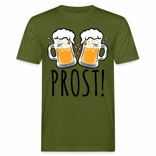 03 Zwei Mass Bier PROST 3c - Männer Bio-T-Shirt