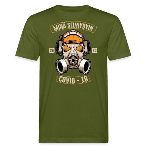 COVID-19, minä selviydyin - Miesten luonnonmukainen t-paita