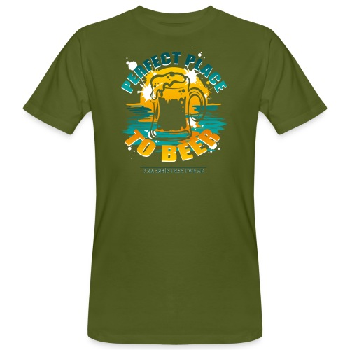 a perfect place to beer - Männer Bio-T-Shirt