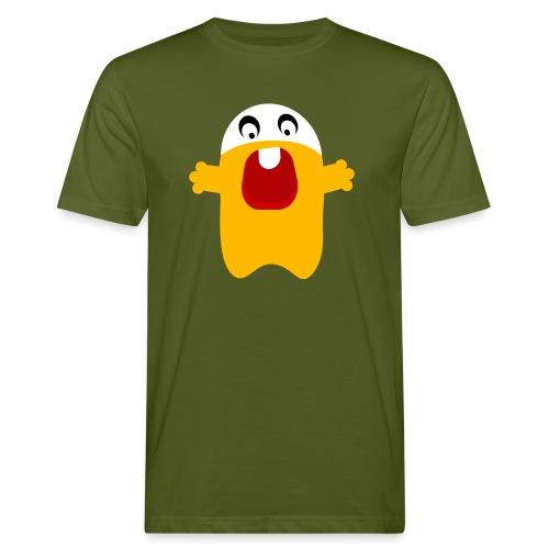 Gelber Roboter - Männer Bio-T-Shirt