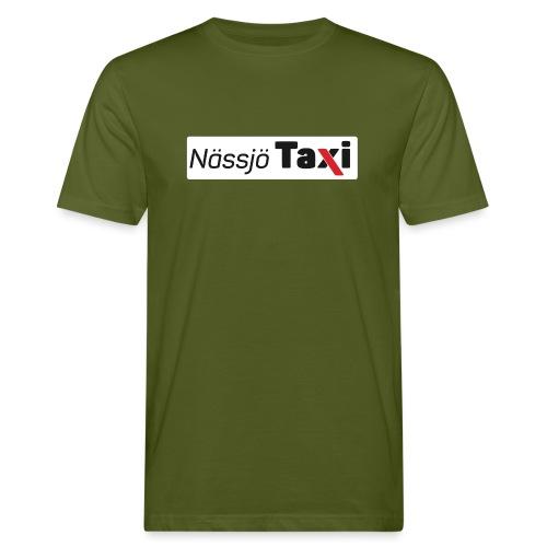 Nässjö taxi tryck - Ekologisk T-shirt herr
