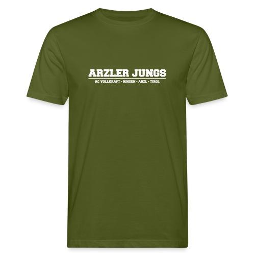 Arzler Jungs Schriftzug weiß - Männer Bio-T-Shirt