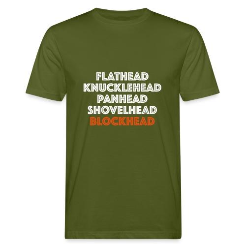 Blockhead 2C - Mannen Bio-T-shirt