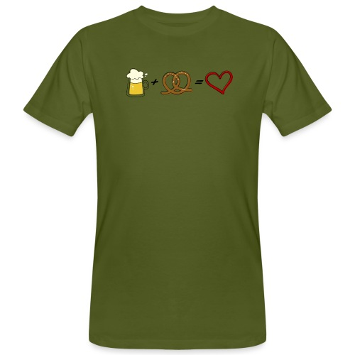 pretzel + beer = love - Men's Organic T-Shirt