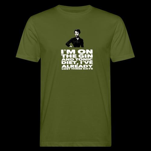 Funny Gin meme vintage lady retro design - Men's Organic T-Shirt