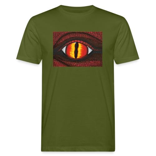 rotes Drachenauge - Männer Bio-T-Shirt