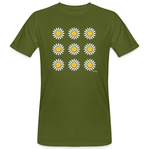 Just daisies - Miesten luonnonmukainen t-paita