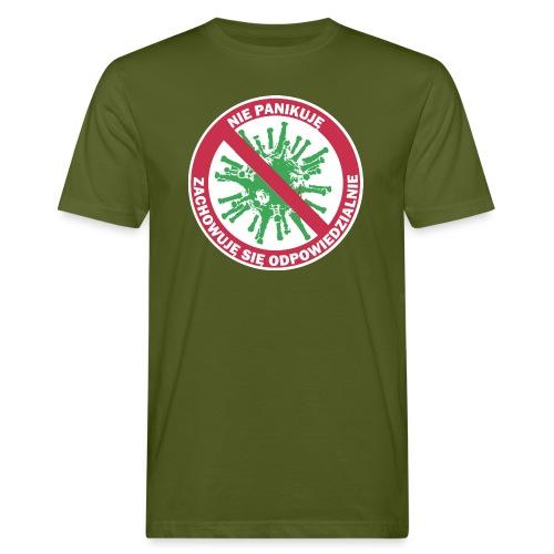 nie panikuje corona-virus - Ekologiczna koszulka męska