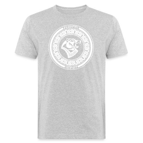 BjörnfellRisingWhite - Miesten luonnonmukainen t-paita