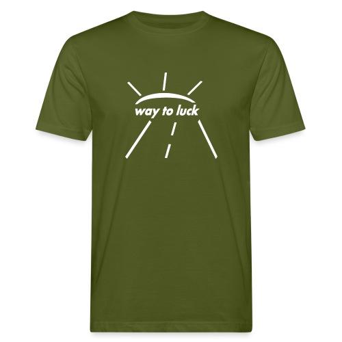 way to luck logo weiß - Männer Bio-T-Shirt