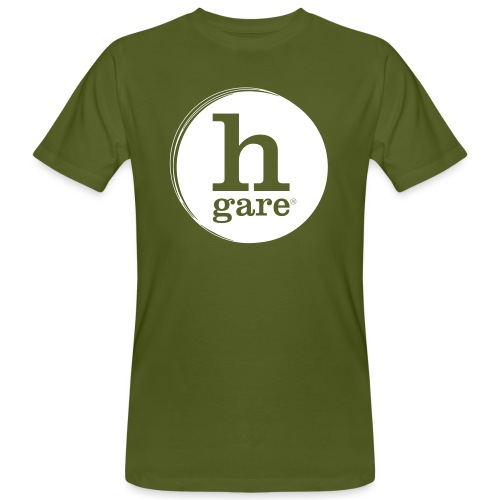 HGARE LOGO TONDO PIENO GIALLO - T-shirt ecologica da uomo