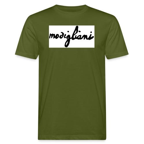 firm_white_black - T-shirt ecologica da uomo