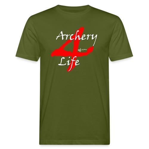 Archery4Life white - Männer Bio-T-Shirt
