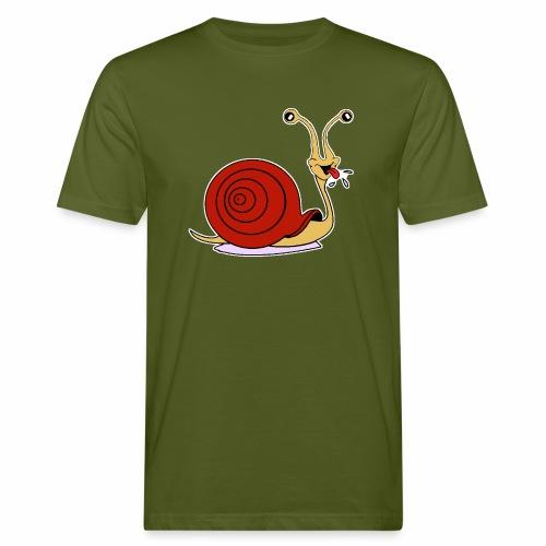 Escargot rigolo red version - T-shirt bio Homme
