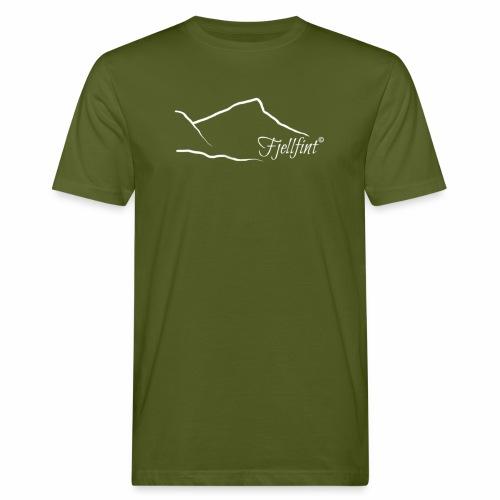 Hvit rektangulær logo - Økologisk T-skjorte for menn