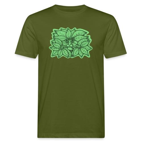 Green Man for Pagan Global Warming/Climate Change - Men's Organic T-Shirt