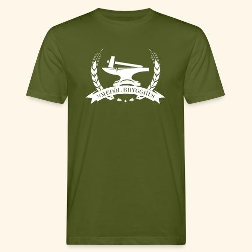 Smedöl Brygghus Logga Vit - Ekologisk T-shirt herr