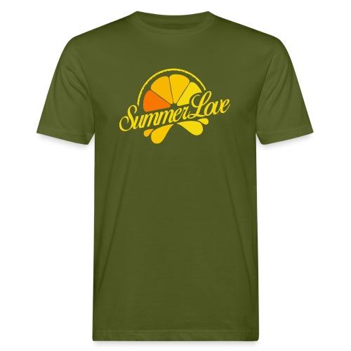 Logo Summer Love 06 - Mannen Bio-T-shirt