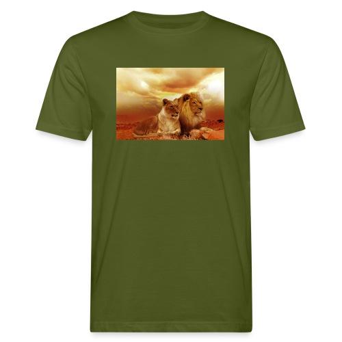 Löwen Lions - Männer Bio-T-Shirt