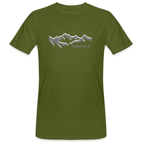 Mountain Logo - Männer Bio-T-Shirt