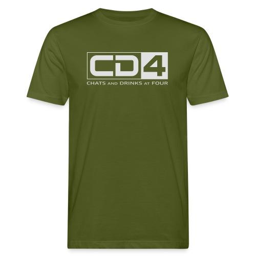 cd4 logo dikker kader bold font - Mannen Bio-T-shirt