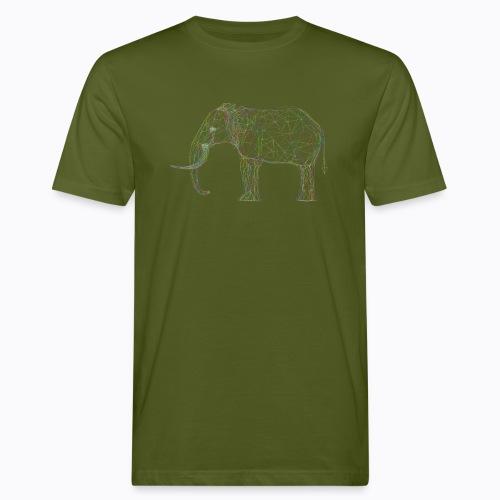 elephant linear - Men's Organic T-Shirt