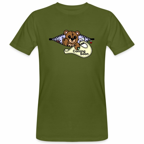 Bärchen Nähmaschine Coming Soon - Männer Bio-T-Shirt