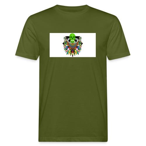 Colorfull skull - Miesten luonnonmukainen t-paita