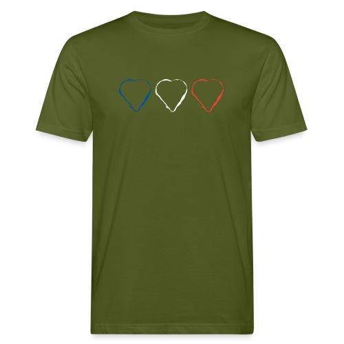 3 Herzen für Frankreich 21.1 - Männer Bio-T-Shirt