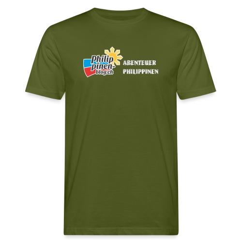 Philippinen-Blog Logo deutsch schwarz/weiss - Männer Bio-T-Shirt