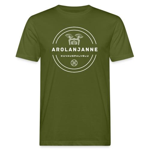 Janne Arola valkoinen - kuva edessä - Miesten luonnonmukainen t-paita