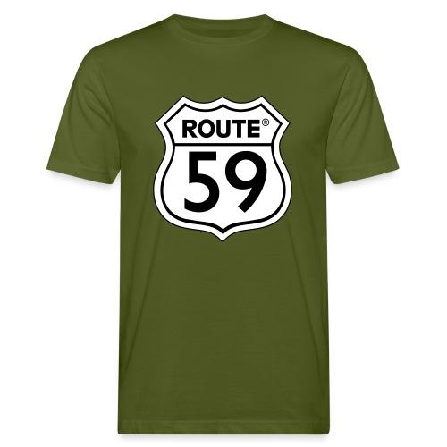 Route 59 zwart wit - Mannen Bio-T-shirt