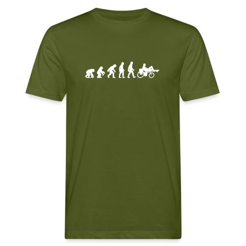 Evolution Liegerad - Männer Bio-T-Shirt