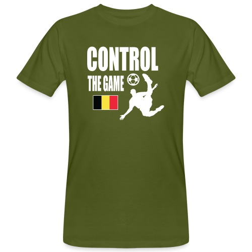 Control The Game Belgium - Mannen Bio-T-shirt