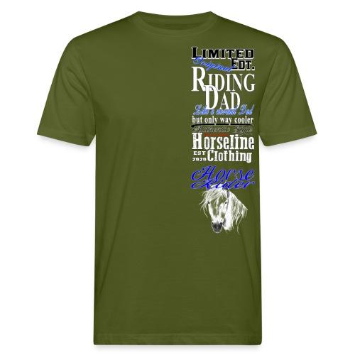 Limited Edition Riding Dad Pferd Reiten - Männer Bio-T-Shirt