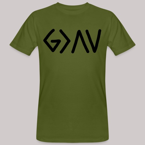 Dios es lo más grande - Camiseta ecológica hombre