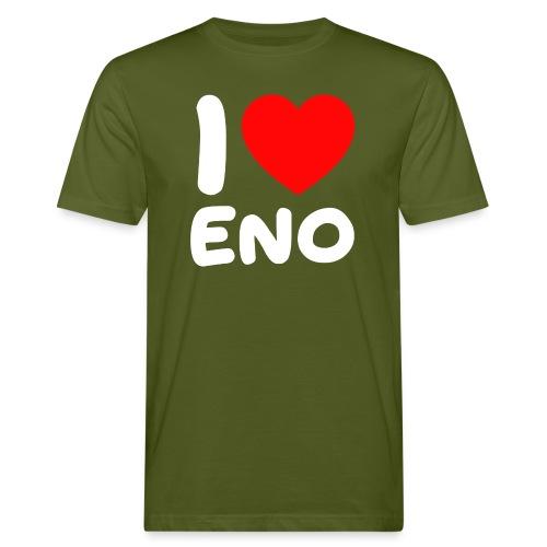 I love Eno / valkoinen - Miesten luonnonmukainen t-paita