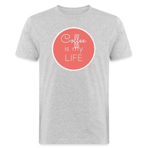 Coffee is my life - Camiseta ecológica hombre