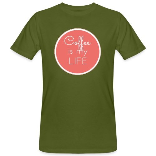 Coffee is my life - Camiseta ecológica hombre
