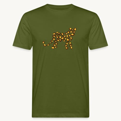 Wildkatze - Fell-Optik - Männer Bio-T-Shirt
