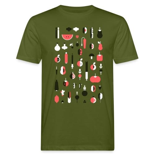 Gemüse Rosa Hochformat - Männer Bio-T-Shirt