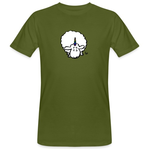 Ewenicorn - es ist ein Regenbogen-Einhornschaf! - Männer Bio-T-Shirt